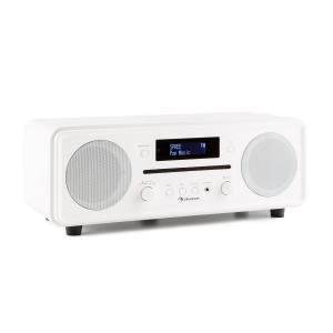 auna Melodia CD DAB+/OUC Desktop Radio Lettore CD Bluetooth Alarm Snooze bianco