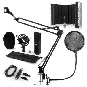 CM001B Set Microfono V5 Condensatore AdattatoreUSB Braccio Anti-Pop