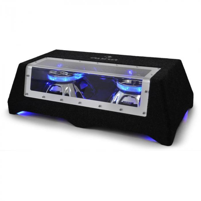 "CB250-50 Subwoofer Auto 2 x 25cm (2 x 10"") 2 x 600W Effetto luce LED"