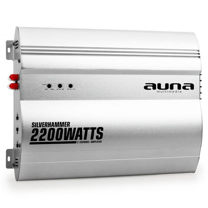 Silverhammer amplificatore auto 2 canali 2200W 2