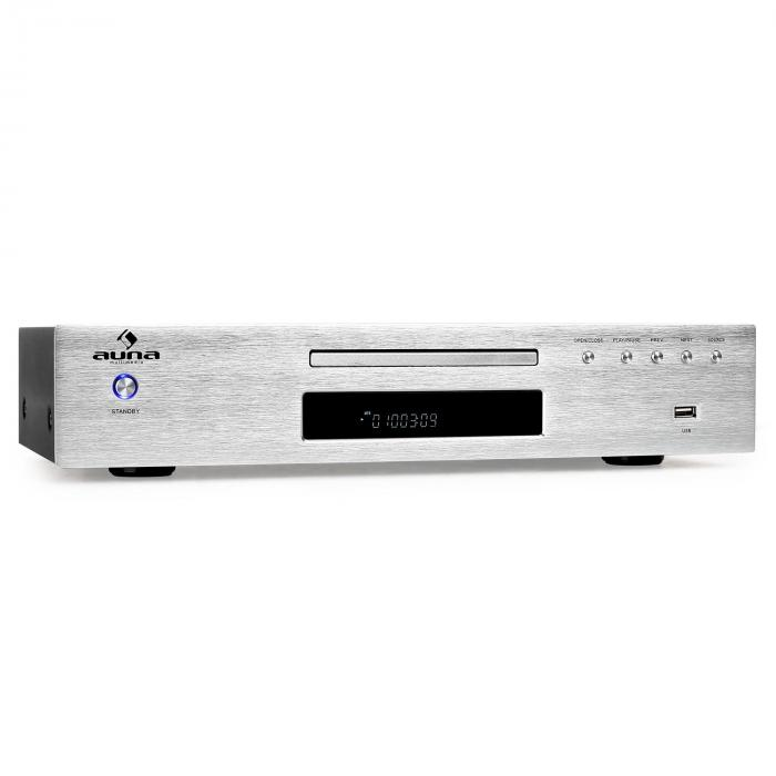 AV2-CD509 Lettore CD USB MP3 Ricevitore Radio argento argento