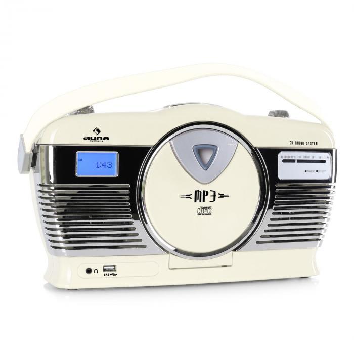 RCD-70 radio vintage FM USB CD crema crema