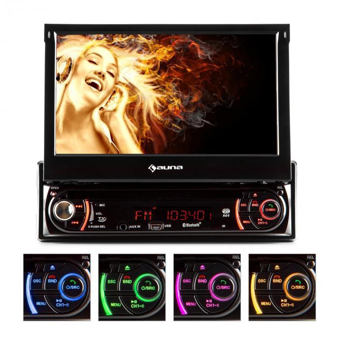 "MVD-240 Autoradio Bluetooth DVD CD USB SD 7"""