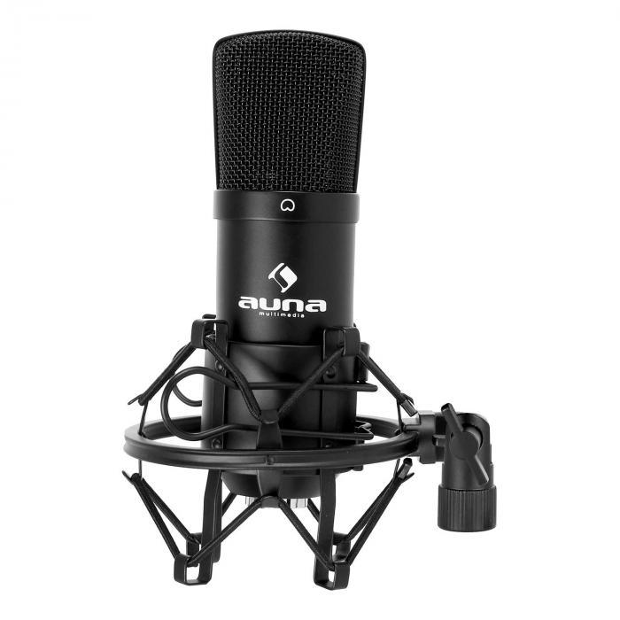 CM001B Microfono a condensatore studio nero nero