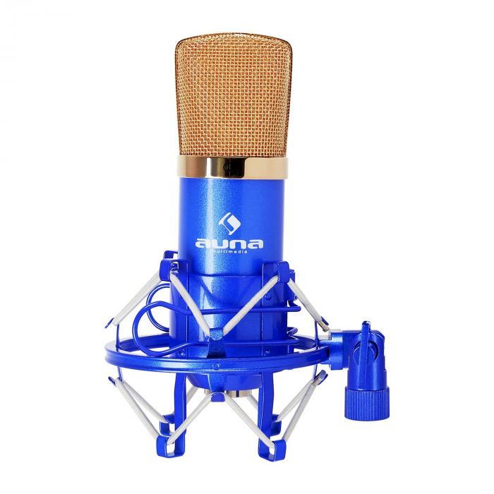 CM001BG microfono a condensatore studio blu/oro blu