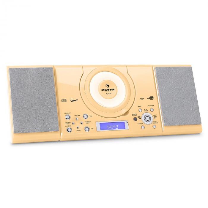 MC-120 impianto stereo MP3 USB color crema crema