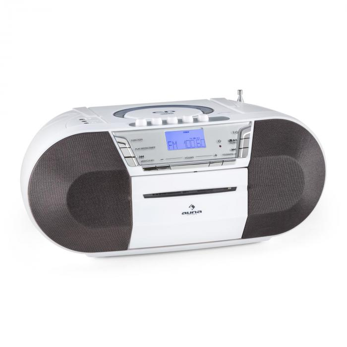 Jetpack Boombox Portatile USB CD MP3 OUC a Pile Bianco