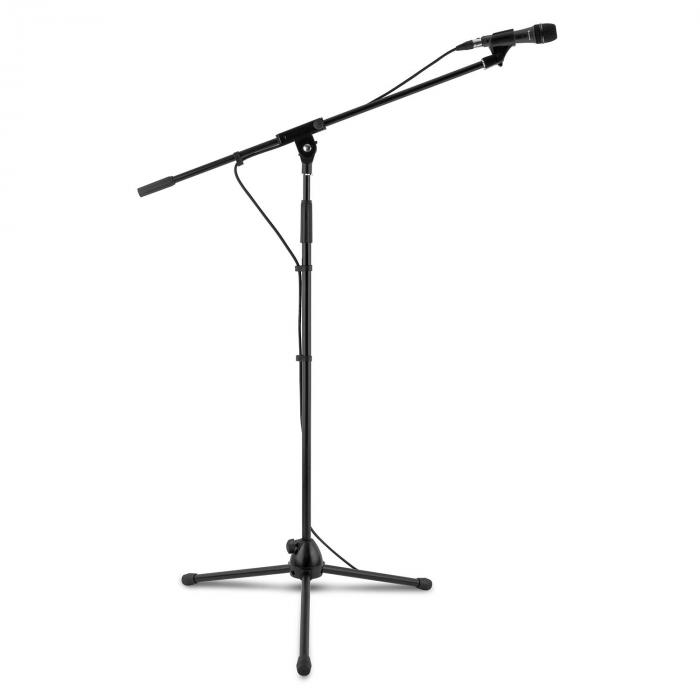 KM 04 Set Microfono 4 Pz. Microfono Stativo Morsetto Cavo 5m