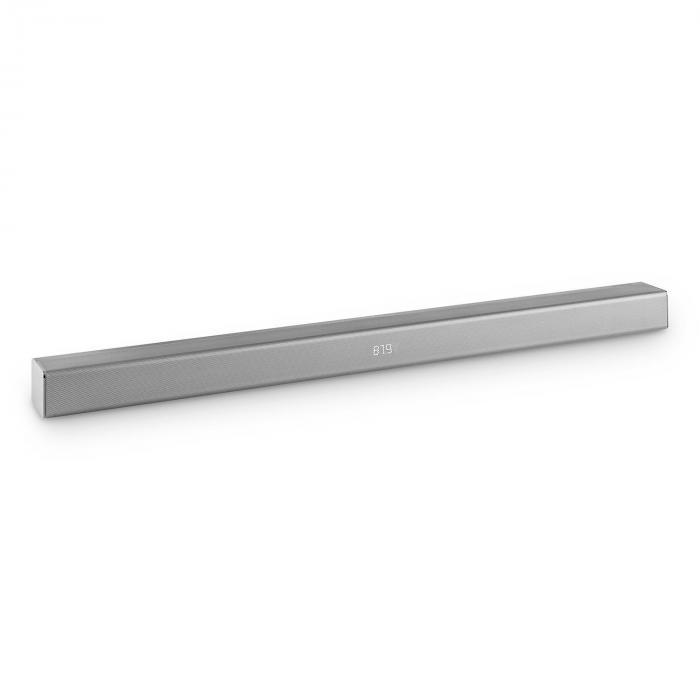 Areal Bar 350 - Soundbar 2.0 80W Touch Bluetooth USB VHF Metallo Cromato Argento argento