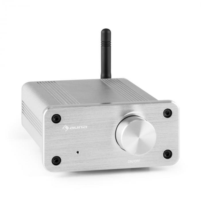BT-Bro silver Mini Amplificatore Stereo Classe D Bluetooth In Alluminio argento