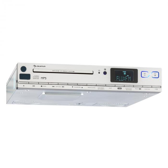 KCD-20 Radio Sottopensile Da Cucina CD MP3 Telecomando Argento