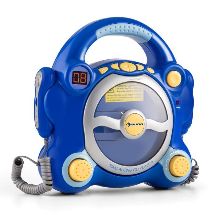 Pocket Rocker Lettore CD Karaoke Sing-A-Long 2 x Microfoni blu