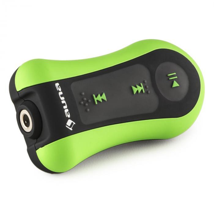 Hydro 8 Lettore MP3 verde 8 GB IPX-8 Impermeabile Clip incl. Cuffie