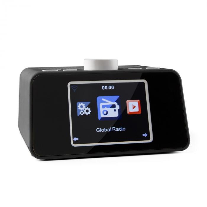 "i-snooze Internet Radio WLAN USB AUX Display TFT a colori da 3,2"" nero nero"