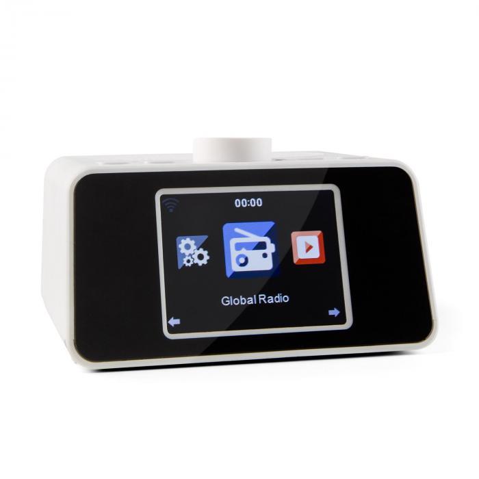 "i-snooze Internet RadiosvegliaWLAN USB AUX Display TFT a colori da 3,2"" bianco bianco"