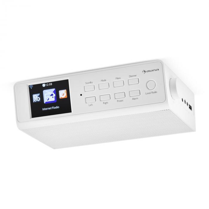 "KR-190 Web Radio Sottopensile WiFi Comandi via App 3,2"" schermo TFT bianco bianco"