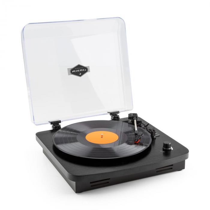 TT370 Giradischi Retro con Altoparlante USB MP3 AUX Nero nero