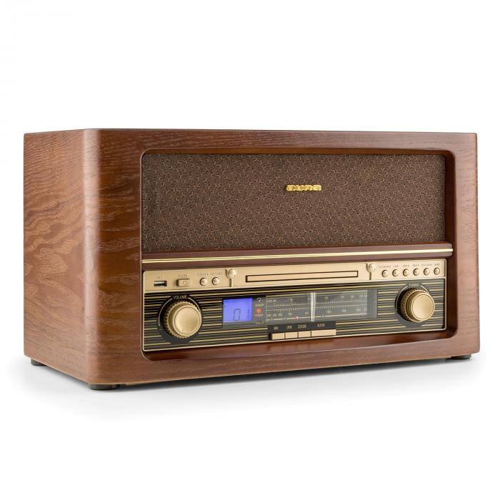 Belle Epoque 1906 Impianto Stereo Retrò CD USB MP3 AUX VHF/MW CD-Player