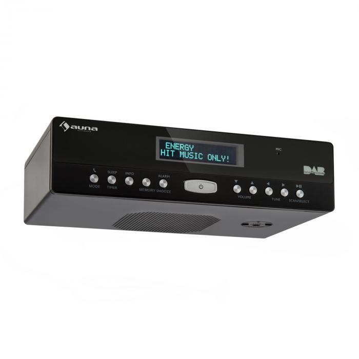 KR-100 DAB Radio da cucina Sottopensile DAB+ Microfono Bluetooth nero
