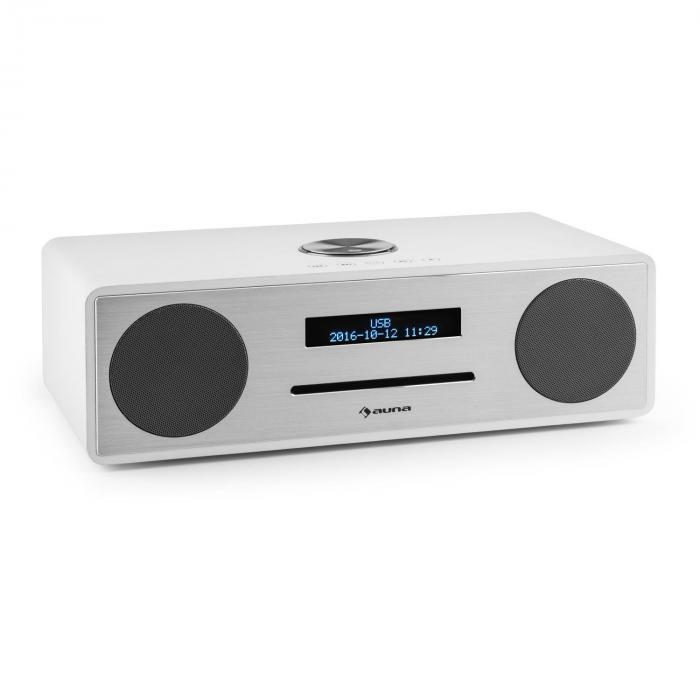 Stanford Radio DAB-CD DAB+ Bluetooth USB MP3 AUX VHF bianco bianco