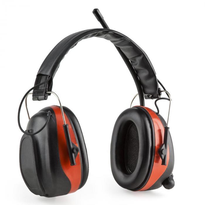Jackhammer BT Cuffie Antirumore Radio FM 4.0 BluetoothAux-In SNR 28dB rosso