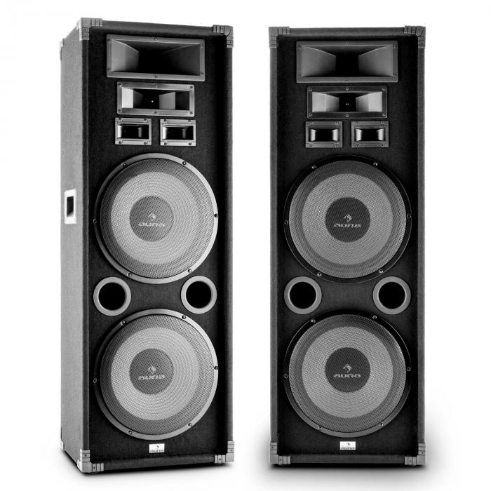 "PA-2200 Set Altoparlanti Audio Fullrange 2x12"" Subwoofer 2000w"